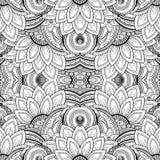 Nahtloses abstraktes Stammes- Muster (Vektor) Stockfotos