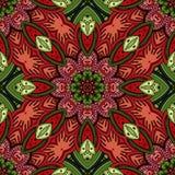 Nahtloses abstraktes Stammes- Muster (Vektor) Lizenzfreie Stockbilder
