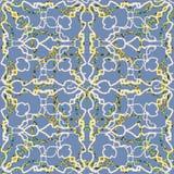 Nahtloses abstraktes strukturiertes Muster Linien und Gekritzel Marblelized lizenzfreie abbildung