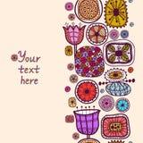Nahtloses abstraktes von Hand gezeichnet Muster. Stockbild