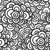 Nahtloses abstraktes von Hand gezeichnet Muster lizenzfreie abbildung