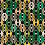 Nahtloses abstraktes von Hand gezeichnet Muster Lizenzfreie Stockfotos