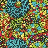 Nahtloses abstraktes von Hand gezeichnet Muster Lizenzfreie Stockbilder