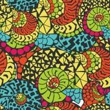 Nahtloses abstraktes von Hand gezeichnet Muster Lizenzfreies Stockfoto
