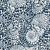 Nahtloses abstraktes von Hand gezeichnet Muster Lizenzfreies Stockbild