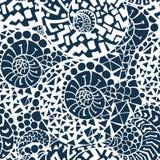Nahtloses abstraktes von Hand gezeichnet Muster Stockfotos