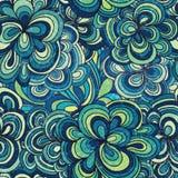 Nahtloses abstraktes von Hand gezeichnetes Muster Lizenzfreies Stockbild