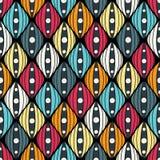 Nahtloses abstraktes von Hand gezeichnetes Muster, gewellter Hintergrund Lizenzfreies Stockfoto