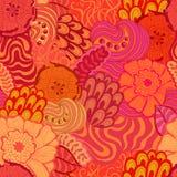 Nahtloses abstraktes von Hand gezeichnetes Musterdesign des Vektors Lizenzfreie Stockbilder