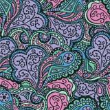 Nahtloses abstraktes von Hand gezeichnetes Wellenmuster Stockfotos