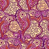 Nahtloses abstraktes von Hand gezeichnetes Wellenmuster Lizenzfreie Stockfotos