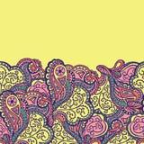 Nahtloses abstraktes von Hand gezeichnetes Wellenmuster Stockbilder
