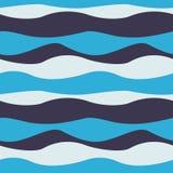 Nahtloses abstraktes Wellenmuster Wellenförmige Hintergrundbeschaffenheit Auch im corel abgehobenen Betrag stock abbildung
