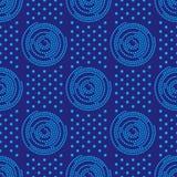 Nahtloses Afrikaner Shweshwe-Muster-Design für Gewebe und Gewebe lizenzfreie abbildung