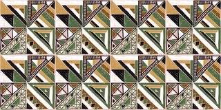 Nahtloses afrikanisches Muster Ethnische Verzierung auf dem Teppich Aztekische Art Zahl Stammes- Stickerei Indisches, mexikanisch stock abbildung
