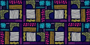 Nahtloses afrikanisches Muster Ethnisches Muster auf dem Teppich lizenzfreie abbildung