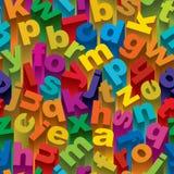 Nahtloses Alphabet-Muster Lizenzfreies Stockfoto