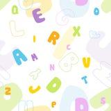 Nahtloses Alphabetmuster Stockfotografie