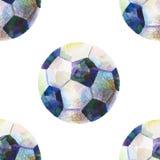 Nahtloses Aquarellmuster mit Ball Stockbild