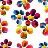 Nahtloses Aquarellmuster mit Blumen Stockbilder