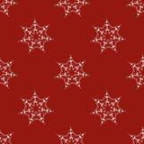 Nahtloses arabisches Muster des Vektors mit gerundeten Elementen Hintergrund in den roten Farben Abstrakte Hintergrund-Abschluss- Lizenzfreies Stockbild
