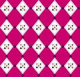 Nahtloses Argyle-Plaid vektorkunst-Muster Stockbilder