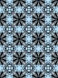Nahtloses Art- DecoSchwarzes auf Blau Stockfotografie