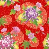 Nahtloses asiatisches traditionelles Muster Lizenzfreies Stockfoto