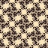 Nahtloses aufwändiges Muster (Vektor) Stockfoto