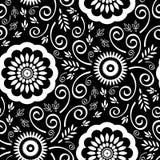 Nahtloses ausführliches Tapeten-Muster Stockfotografie
