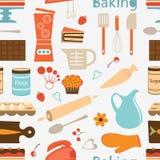 Nahtloses Bäckereimuster Stockbild