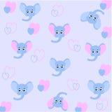 Nahtloses Baby Muster mit Babygesichtern Stockfoto