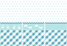Nahtloses Babymuster, blaues Tapetenset Stockfoto