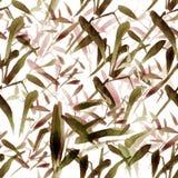 Nahtloses Bambusmuster des modernen Aquarells E lizenzfreie abbildung