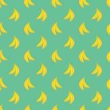 Nahtloses Bananenmuster des Vektors Stockfoto