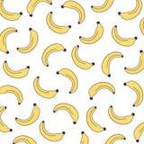 Nahtloses Bananenmuster des Vektors Von Hand gezeichnet Gesicht der illustration Plakat, Fahne, Packpapier, Hauptdekor Es kann f? lizenzfreie abbildung