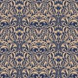 Nahtloses barockes Muster Goldenes Muster Weinlesehintergrund für Einladung, Gewebe Auch im corel abgehobenen Betrag vektor abbildung