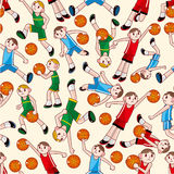 Nahtloses Basketballmuster Stockfoto