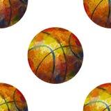 Nahtloses Basketballmuster Lizenzfreies Stockbild