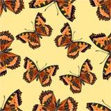 Nahtloses Beschaffenheit Schmetterlings-Vanessa-cardui Lizenzfreies Stockfoto