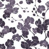 Nahtloses Beschaffenheitsmuster des Blumenorchideendekorationsdesigns Stockbild