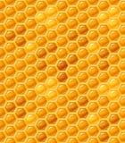 Nahtloses Bienenwabemuster Stockfoto