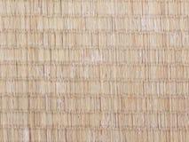 Nahtloses Bild der Oberfläche getragener heraus japanischer tatami Matte Lizenzfreie Stockfotos