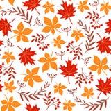 Nahtloses Blatmuster Rot und Orange färbt Efeublattnahaufnahme Lizenzfreies Stockfoto