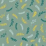 Nahtloses Blatmuster Stilvolle Beschaffenheit Vectore mit Blättern Blumenwiederholungsmuster Vektor vektor abbildung