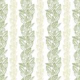 Nahtloses Blattmuster, Blumentapete, Hand gezeichnet, Vektor Stockfotografie