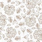 Nahtloses Blattmuster des Herbstes stock abbildung