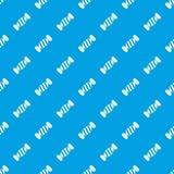 Nahtloses Blau des köstlichen Süßigkeitsmusters lizenzfreie abbildung