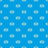Nahtloses Blau des Team- oder Freundmusters Lizenzfreie Stockfotografie