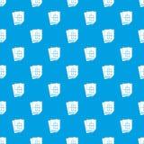 Nahtloses Blau des Wohnungsbauprojekt-Musters Lizenzfreies Stockbild